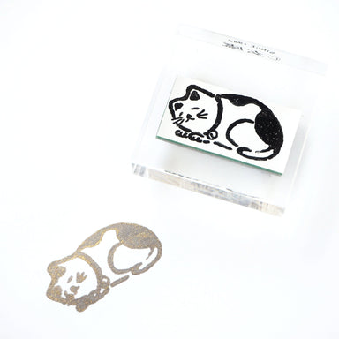 GENRO Rubber Stamp - Sleeping Cat