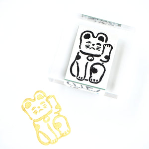 GENRO Rubber Stamp - Beckoning Cat