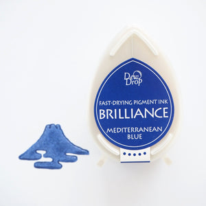 Brilliance Stamp Ink - Mediterranean Blue 018