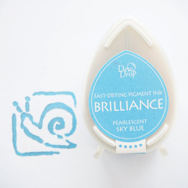 Brilliance Stamp Ink - Pearlescent Sky Blue