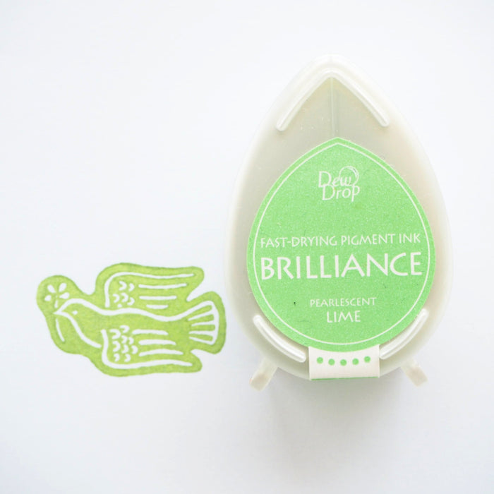 Brilliance Stamp Ink - Pearlescent Lime
