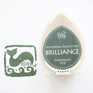 Brilliance Stamp Ink - Pearlescent Ivy 064