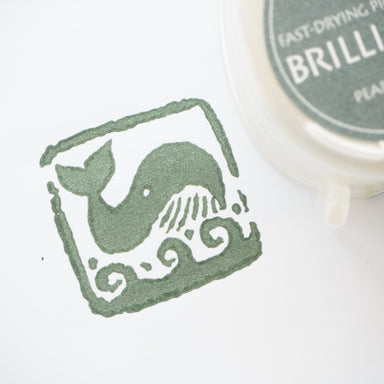 Brilliance Stamp Ink - Pearlescent Ivy