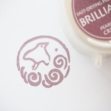 Brilliance Stamp Ink - Pearlescent Crimson