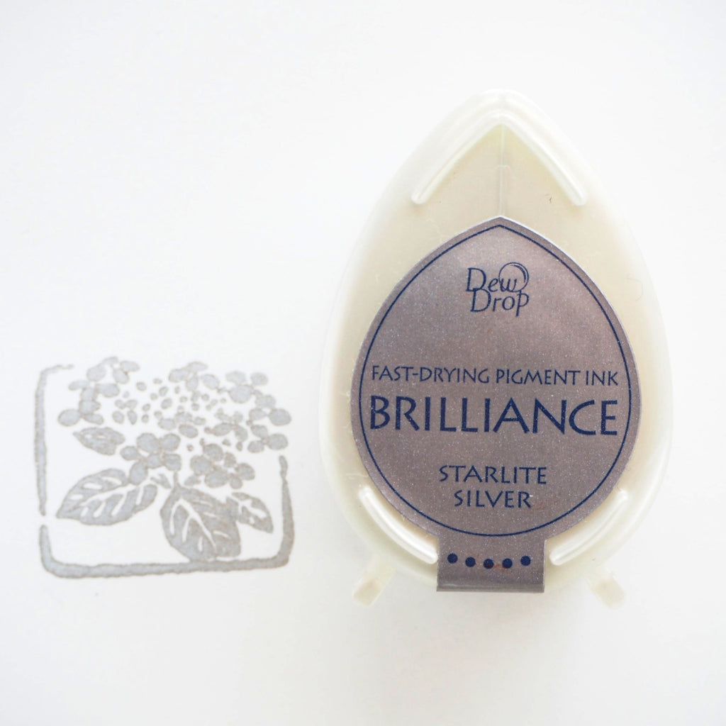 Brilliance Stamp Ink - Starlite Silver 093