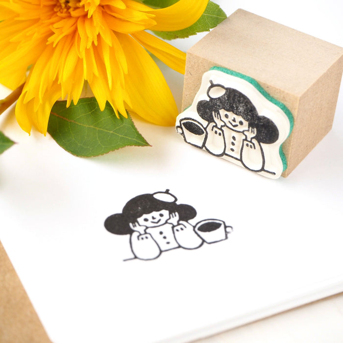 CTFJ x Yuko Takeda Rubber Stamp - Coffee Time