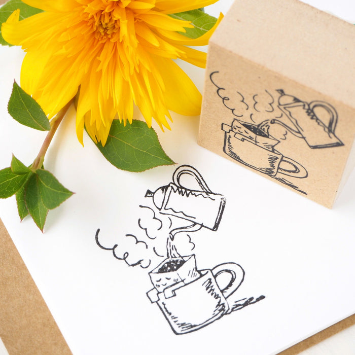 Rubber Stamp - Happy Drip Coffee