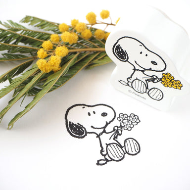 Snoopy Rubber Stamp - Flower