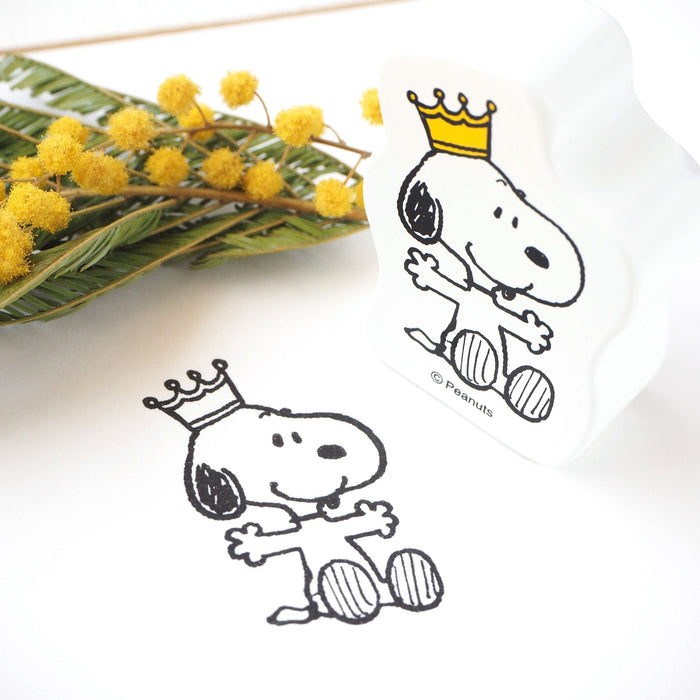 Snoopy Rubber Stamp - Crown