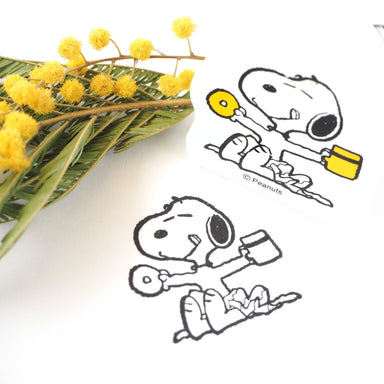Snoopy Rubber Stamp - Cafe