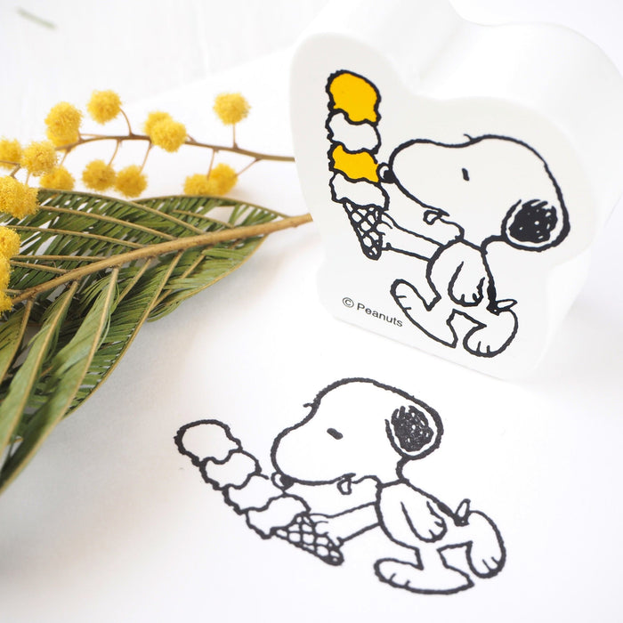 Snoopy Rubber Stamp - Ice Cream