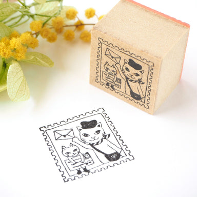 Rubber Stamp - Traveling Cat Stamp