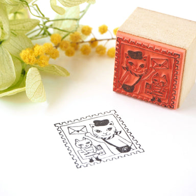 Rubber Stamp - Cat Delivery