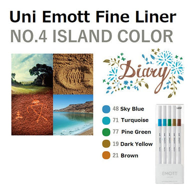 Uni Emott Fine Liner Set - Island No.4