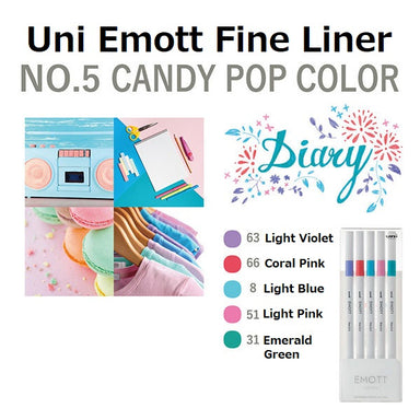 Uni Emott Fine Liner Set - Candy Pop No.5