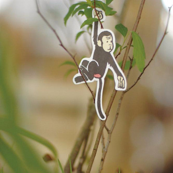 Discontinued Classiky Monkey Flake Stickers, Nancy Seki, 12136-01