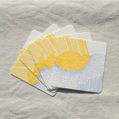 Letterpress Coaster - Heavy Rain
