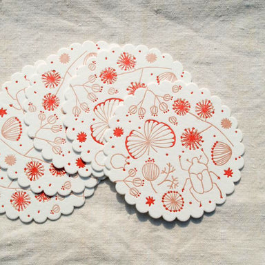Letterpress Coaster - Wild Flowers