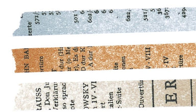 Set of 3 Old Book Washi Tapes 45202-06
