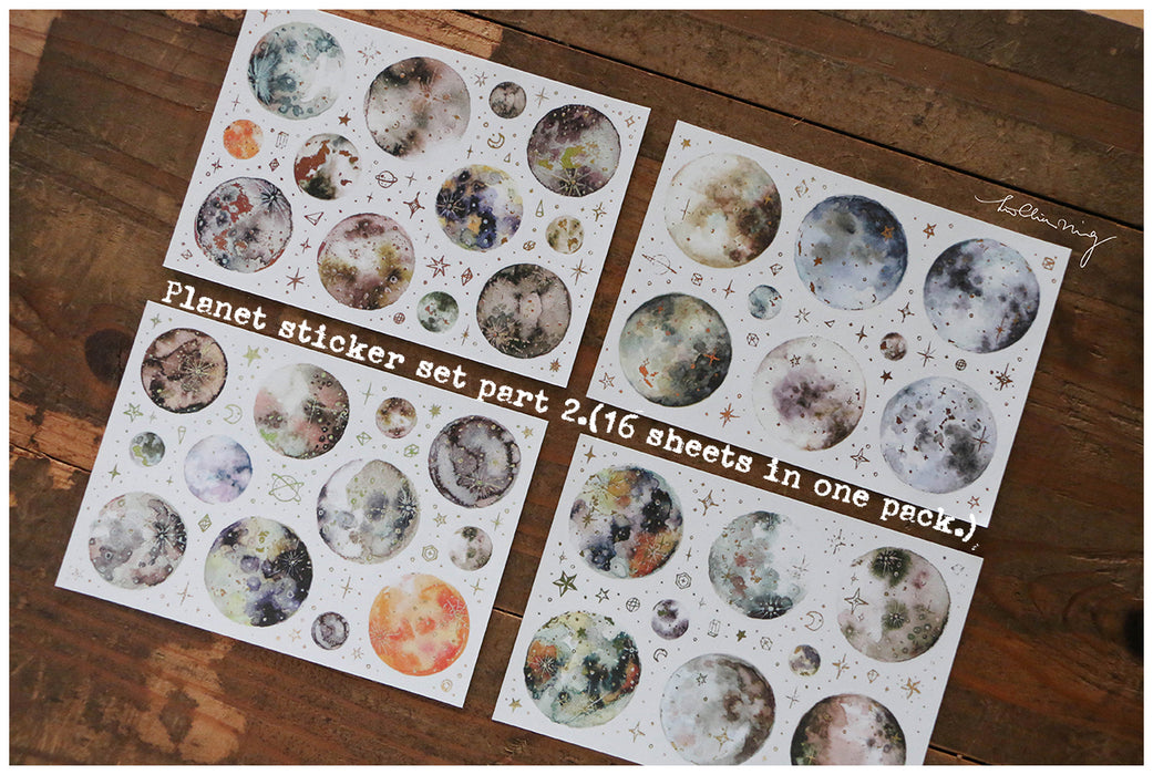 Print-on Stickers - Planet