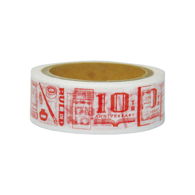 10th Anniversary Limited Edition Washi Tape - Vermilion
