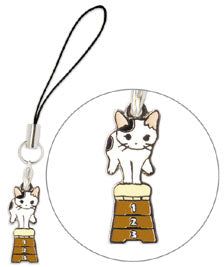 Pottering Cat Charm Strap - Gym