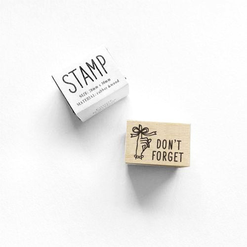 Rubber Stamp - Don't Forget
