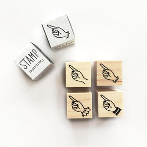 KNOOP Rubber Stamp - Mini Pointing Hand