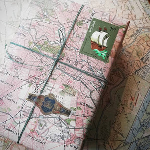Sunny Sunday Vintage Map Paper Set