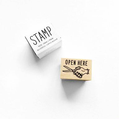 Rubber Stamp - Open Here