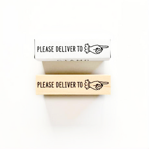 KNOOP Rubber Stamp - Please Deliver To