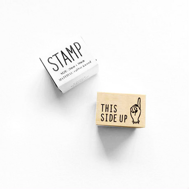 Rubber Stamp - This Side Up