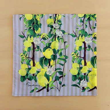 Cotton Handkerchief - Chinese Quince