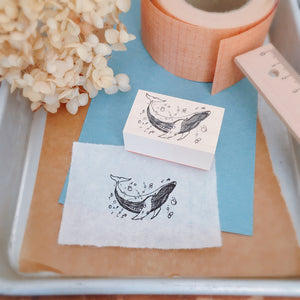 nonnlala Rubber Stamp - Whale