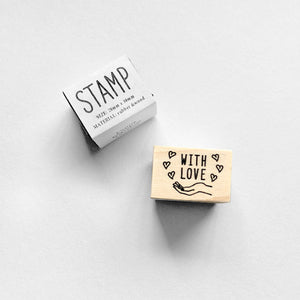 KNOOPWORKS Rubber Stamp - With Love