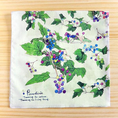 Yumi Imai Cotton Handkerchief - Berry
