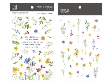 MU Print-on Stickers - Colorful Summer Field