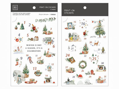 Limited Edition MU Print-on Stickers - Christmas Advent