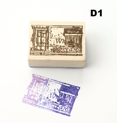 Discontinued Chamil Garden Rubber Stamp - Scene