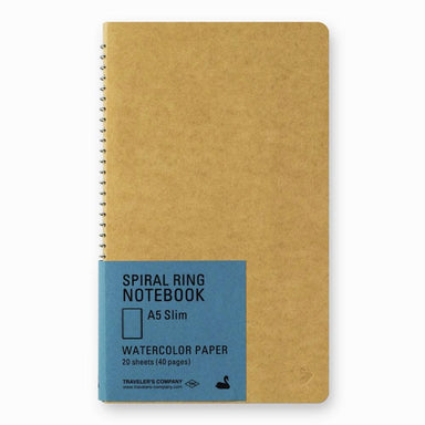 A5 Spiral Ring Notebook - Swan