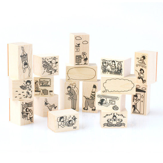 Little Stamp People Rubber Stamp - Sleeping