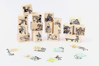 Mail Rubber Stamp - Pulling