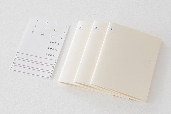 MD Notebook LIGHT - Blank in 3 Sizes