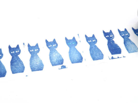 Washi Tape - Blue Cat
