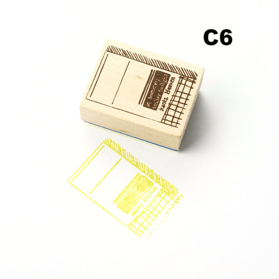 Discontinued Chamil Garden Rubber Stamp - Book