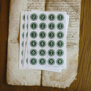 Discontinued Classiky Number Seals - Green Large