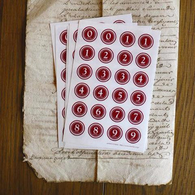 Discontinued Number Seals - Red Large