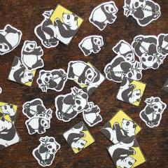 Discontinued Classiky Panda Flake Stickers - Nancy Seki 12136-02