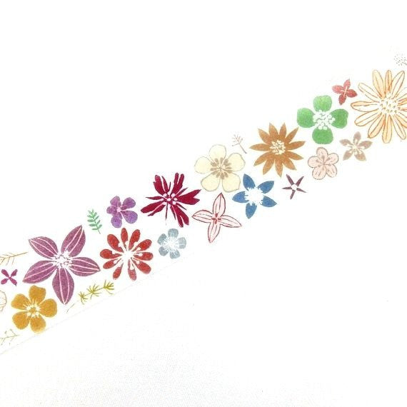 Washi Tape: Color Flower (Discontinued)