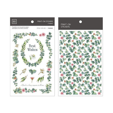 MU Print-on Stickers - Best Wishes Flowers